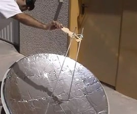 Solar furnace made with crisps bags. Solar cooking.