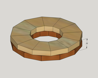 Cut Segments and Glue Bowl-Rings and Stack