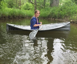 Backyard Duct Tape Kayak