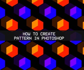 Photoshop pattern from shape, text or png file.