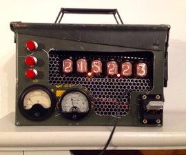 Steam Punk Ammo Tin Nixie Clock