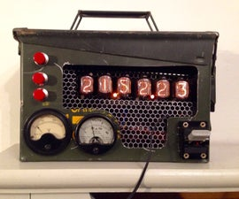 Steam Punk Ammo Tin Nixie Clock