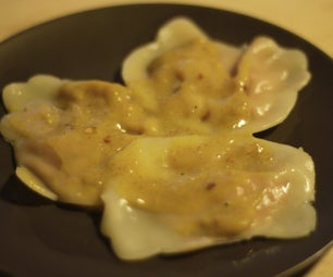 Sweet Potato Ravioli With Coconut Curry Sauce