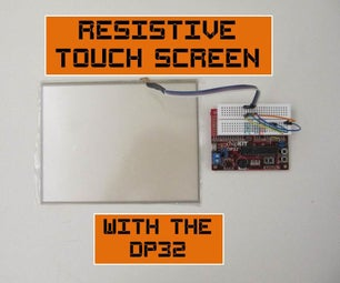 Resistive Touch Screen on the DP32