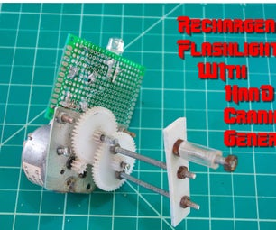 Rechargeable Flashlight With Hand-Crank Generator