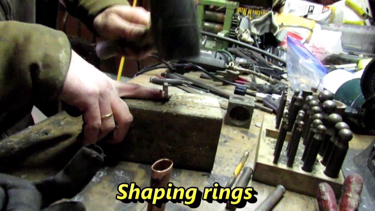 Picture of Making Coin Rings Out of Quarters and Decorating the Case.