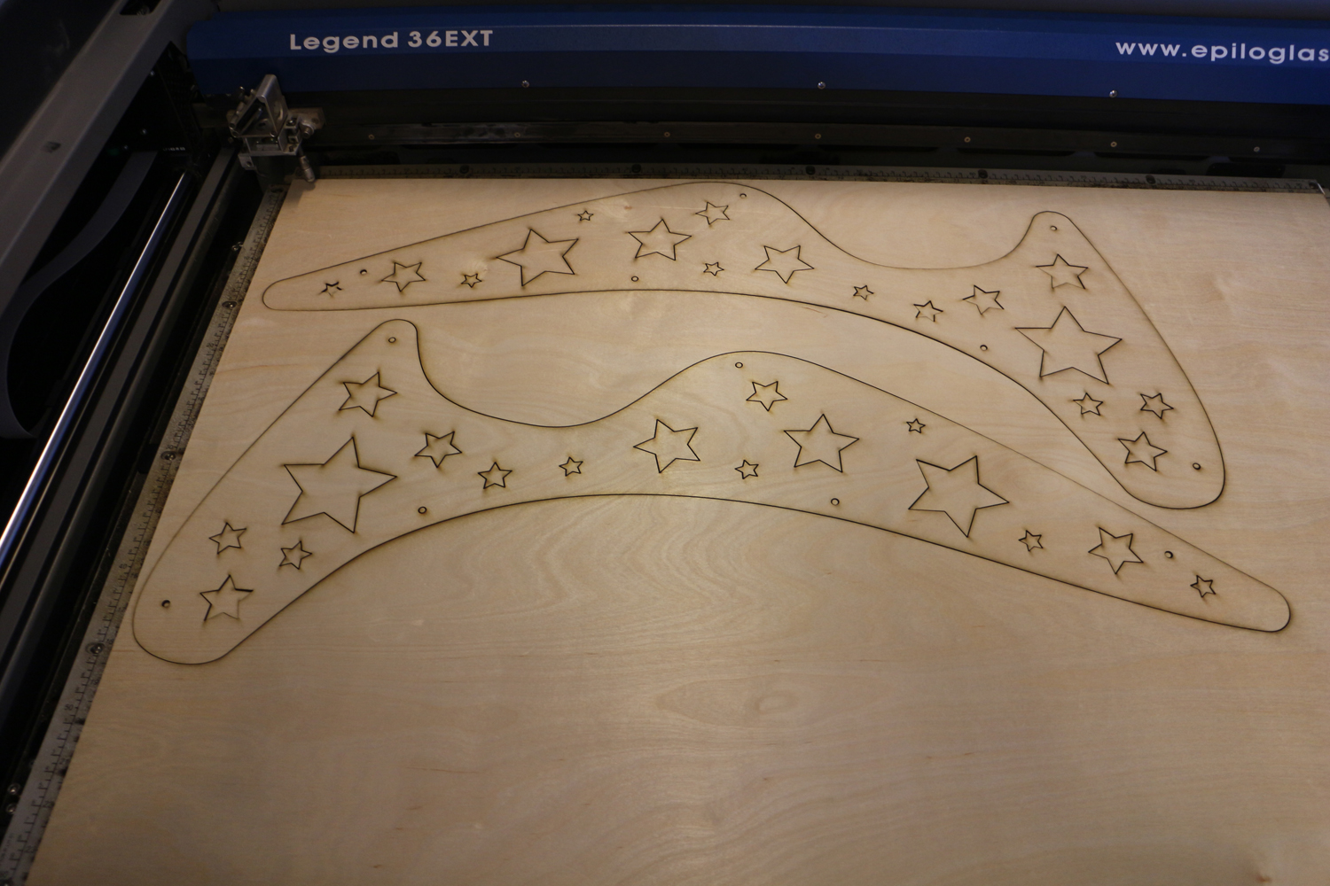 Picture of Laser-cutting the Light Panels