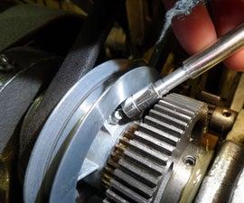 Myford ML10 Lathe Oil Nipple Socket for Cone Pulley Lubrication