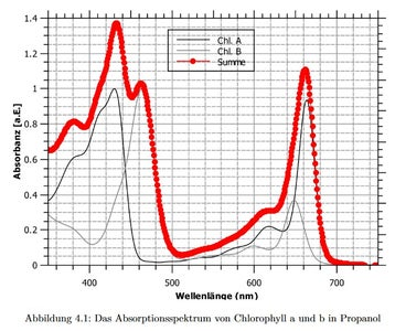First Experiment: the Absorption-curve of Chlorophyll