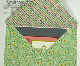 How To Make a Rectangle Envelope For A Square Card