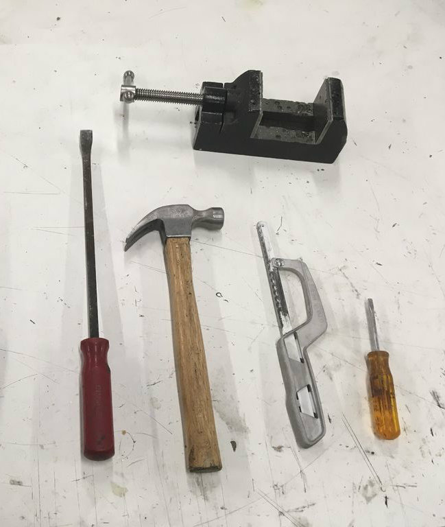 Picture of Gather the Required Hand Tools to Open the Transformer