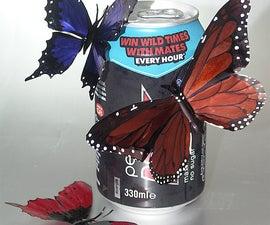 Drink Can Butterflies