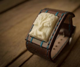 Carved Vegetable Ivory (Tagua) Bracelet