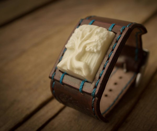 Carved Vegetable Ivory (Tagua) Bracelet