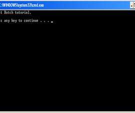 Batch File Tutorial 1
