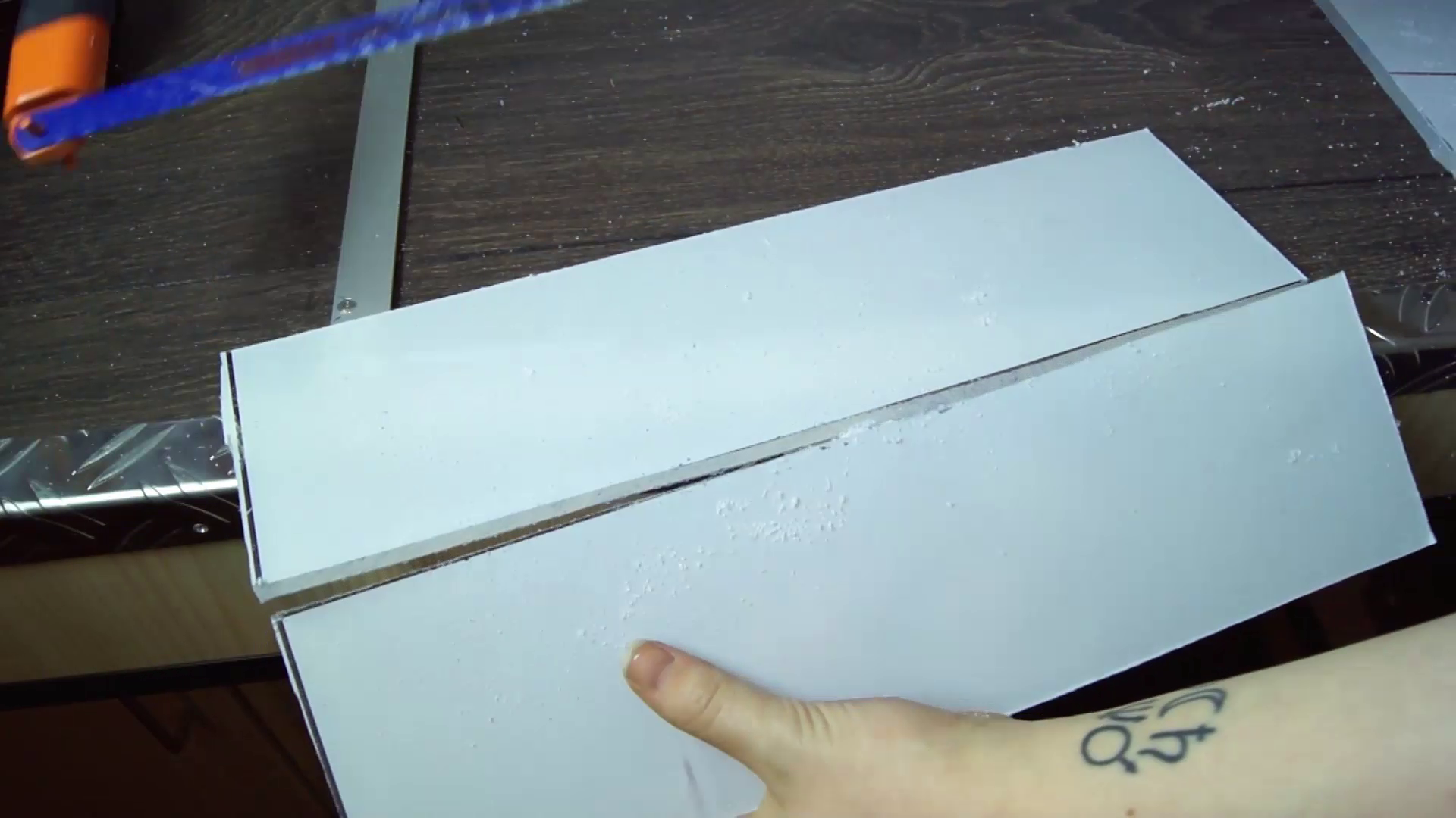 Picture of Cutting the Acrylic