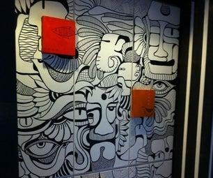 Doodle Art on Storage Unit ( Furniture Design)