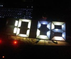 Cheap 7 segment clock (cardboard clock)