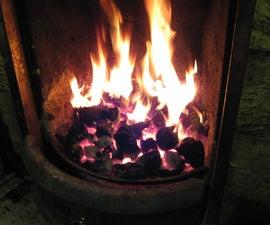 How to light a coal fire