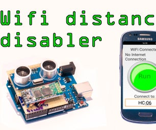 Android Wi-fi Disabler With Arduino Distance Sensor