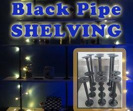 GLOWING 5 Tier Desktop Pipe Shelving