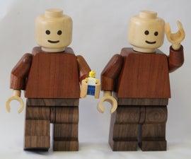 Giant wooden Lego men
