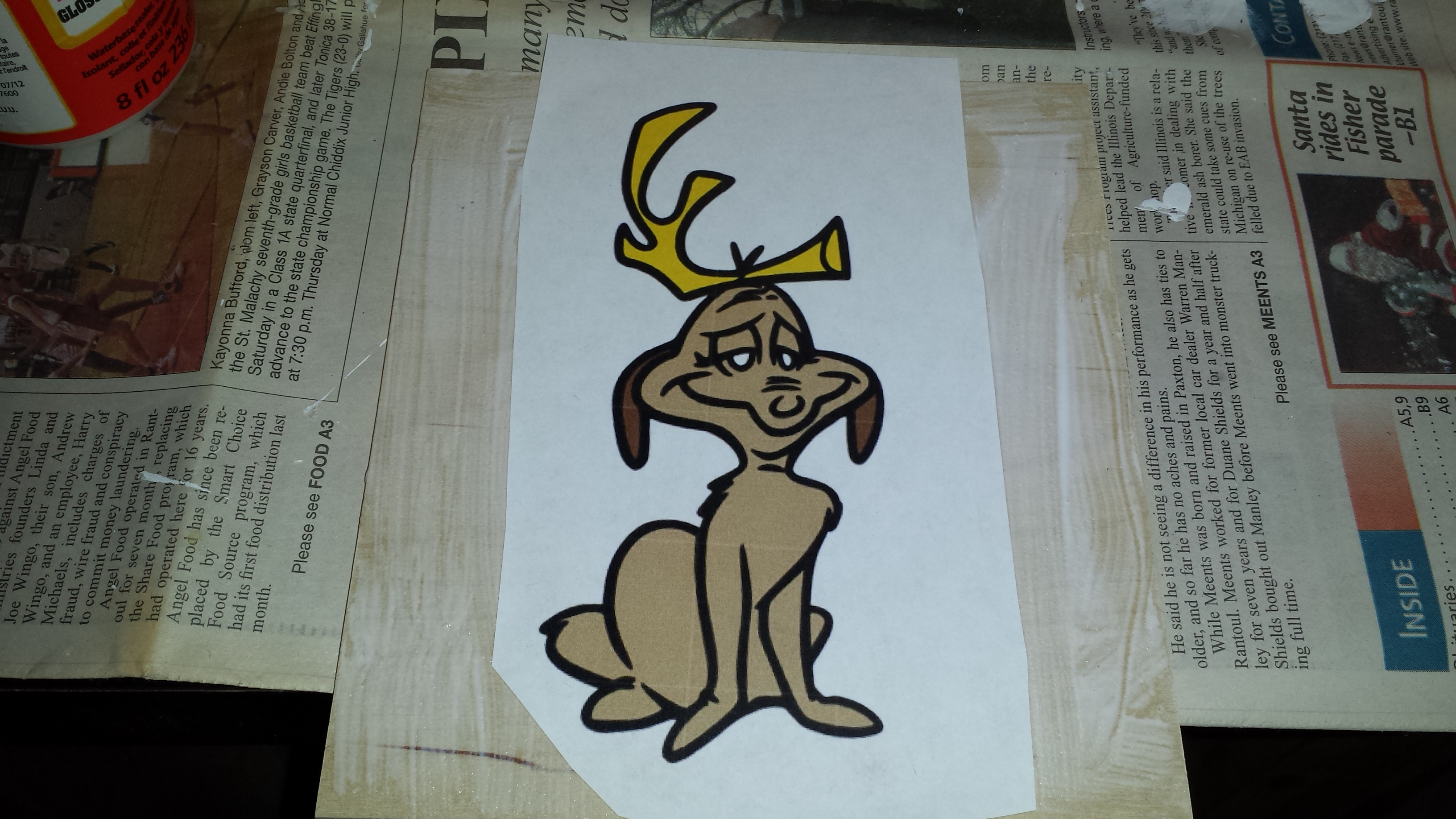 Picture of Modge Podge the Images to the Board