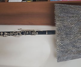Recycled Clarinet Lamp With Touch Control