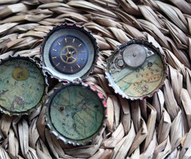 Bottle Cap Brooches