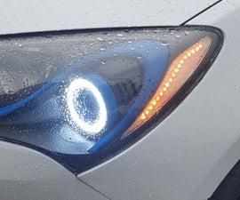 ESP8266 Wireless RGB Headlights (Genesis Coupe)