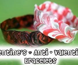 DIY Valentine's Day & Anti - Vday Bracelets!