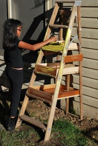 Turning the Ladder Into a Planter Step 4