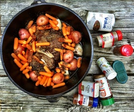 Camp cooking the easy way - In ground roast