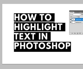 How to Highlight Text in Photoshop