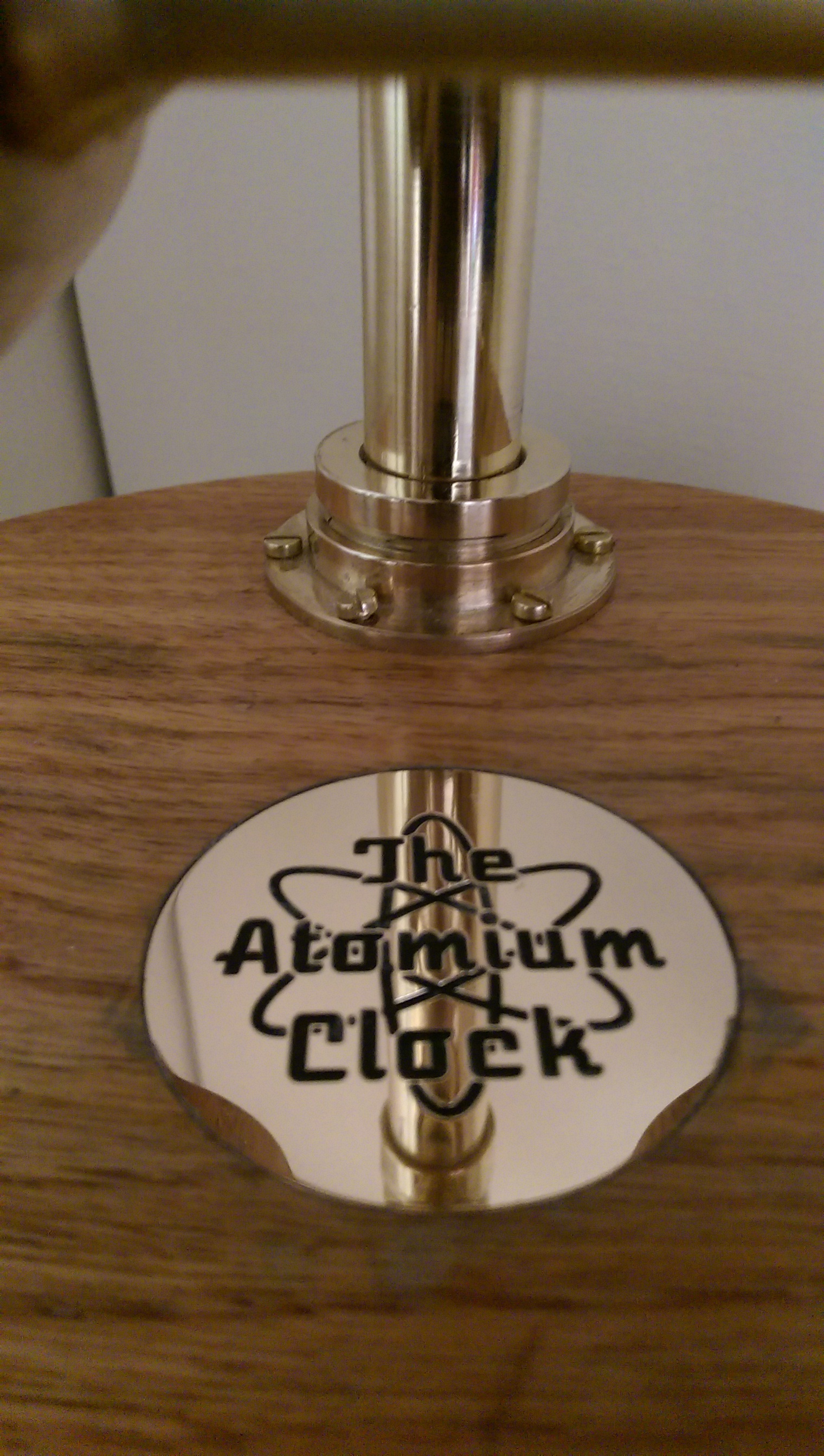 Picture of The Atomium Clock Wood Finishing and Final Assembly.