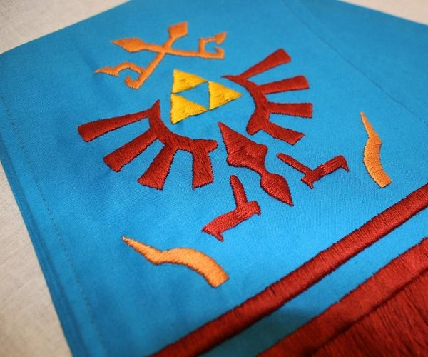 How to Sew and Embroider Link's Scarf From Hyrule Warriors