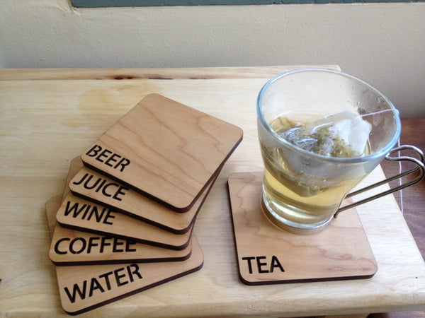 Laser Cut Beverage Coasters