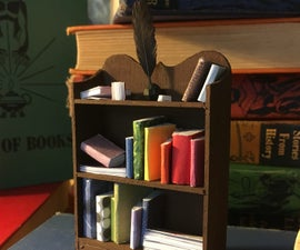 Miniature Bookcase With Books