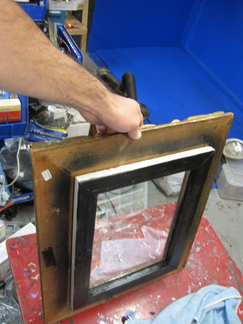 Picture of Mounting in the Picture Frame