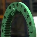 3D Printed Hanging Internal Gear Clock