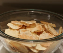 Crispy Crunchy Potato Chips in the Microwave