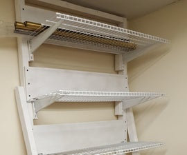 DIY Cantilevered Material Shelving
