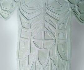 Dremel a Batman Foam Board Master for a Plaster Mold