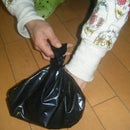 easy peasy trick or treat bag, made from a bin liner