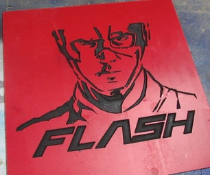 The Flash - PVC and Paint Experiment on CNC