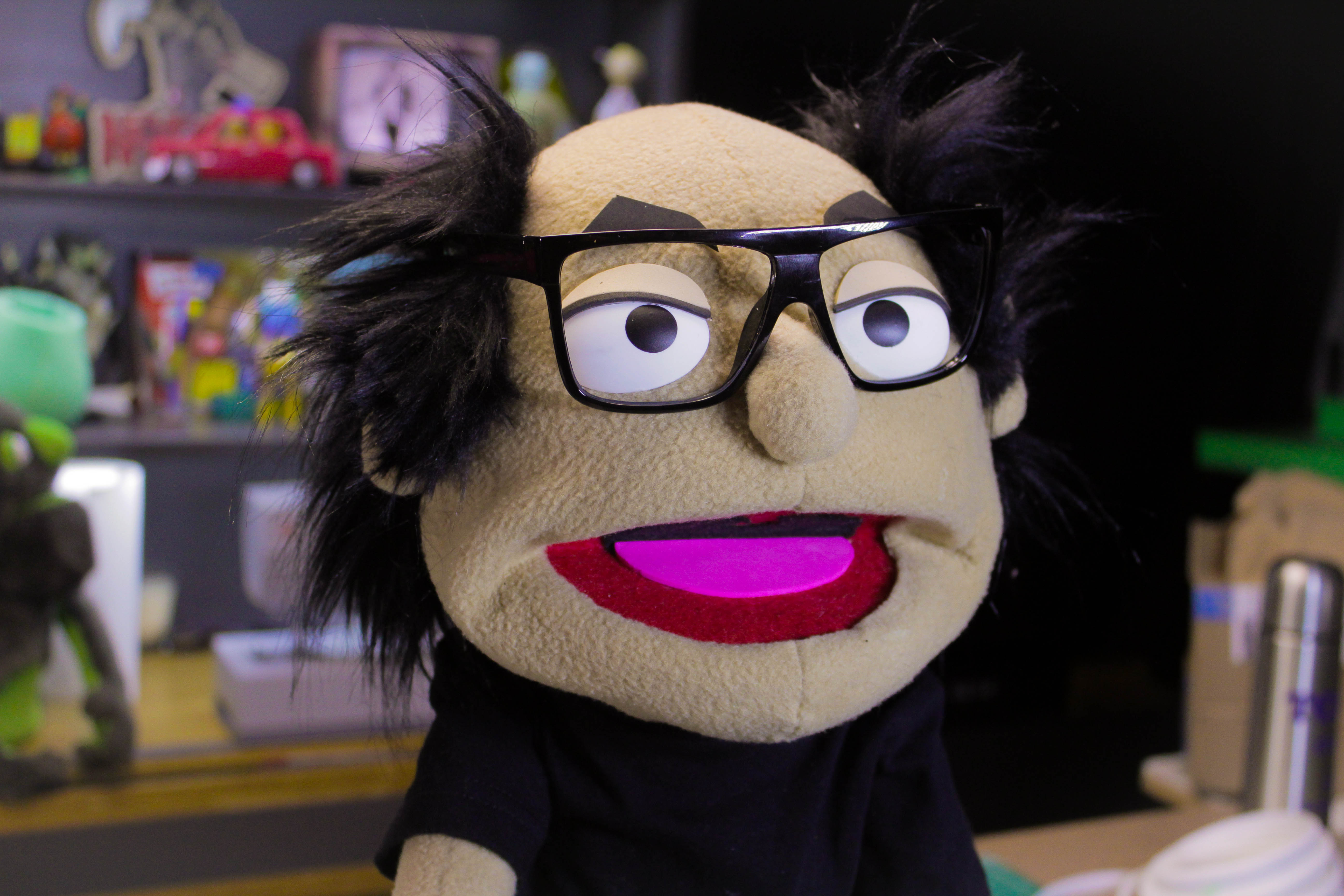 Picture of Making a Hand and Rod Puppet of Frank Reynolds.