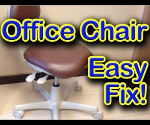Office Chair Sinking Height Easy Cheap Fix!