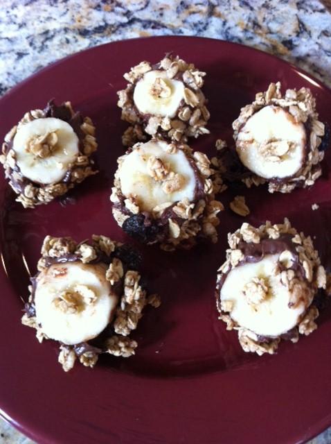 Picture of Granola Banana Nutella  Bites