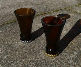 Shot Glasses From Old Glass Bottles
