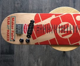 Lap Slide Guitar Skate Board